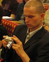 Raymond Kristiansen (at Bloggforum 2 in Stockholm). Photo: Lotta Holmström