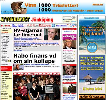 Aftonbladet's local site for Jönköping