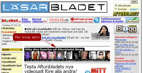 "The ""blog spin"" at Läsarbladet"